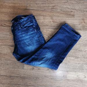 Silver Jeans Tuesday Fluid Denim Mid Capri 32*23